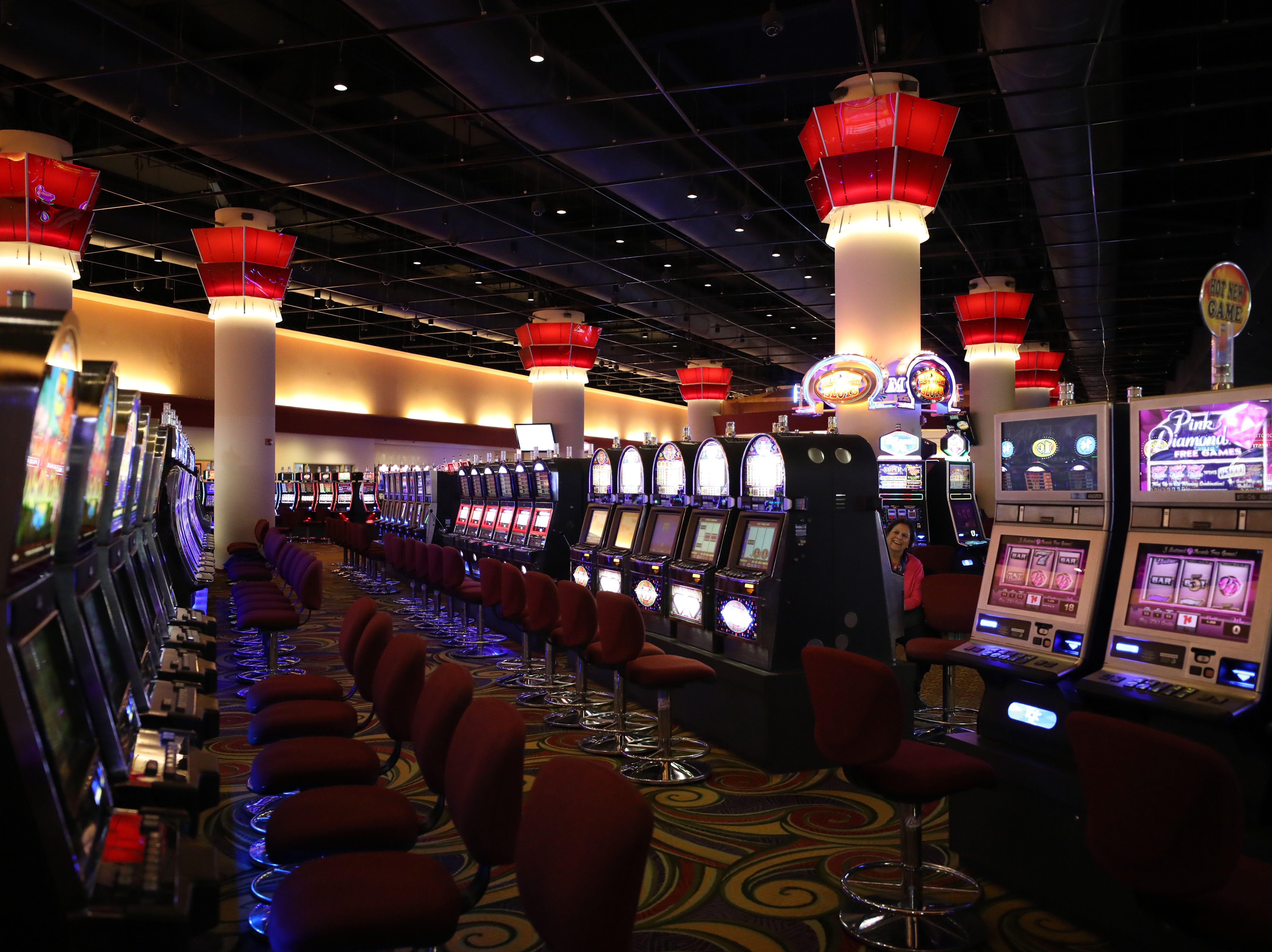 Video slot machines are pictured at the Monticello Casino Raceway in Monticello, April 10, 2019.