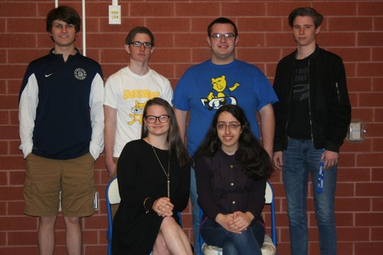 The Chambersburg Area Senior High School gifted program hosted a blood drive with the Central Pennsylvania Blood Bank on March 29. The coordinators were (back row, from left) Max Strait, Ben Crawford, Sammy Haas, Sam Crawford, (front row, from left) Emma Wolfe and Alex Brajovic.