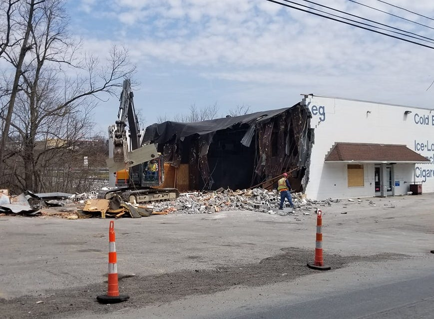 The owner of the business says he understands why the building has to come down, but it was a large part of his life.