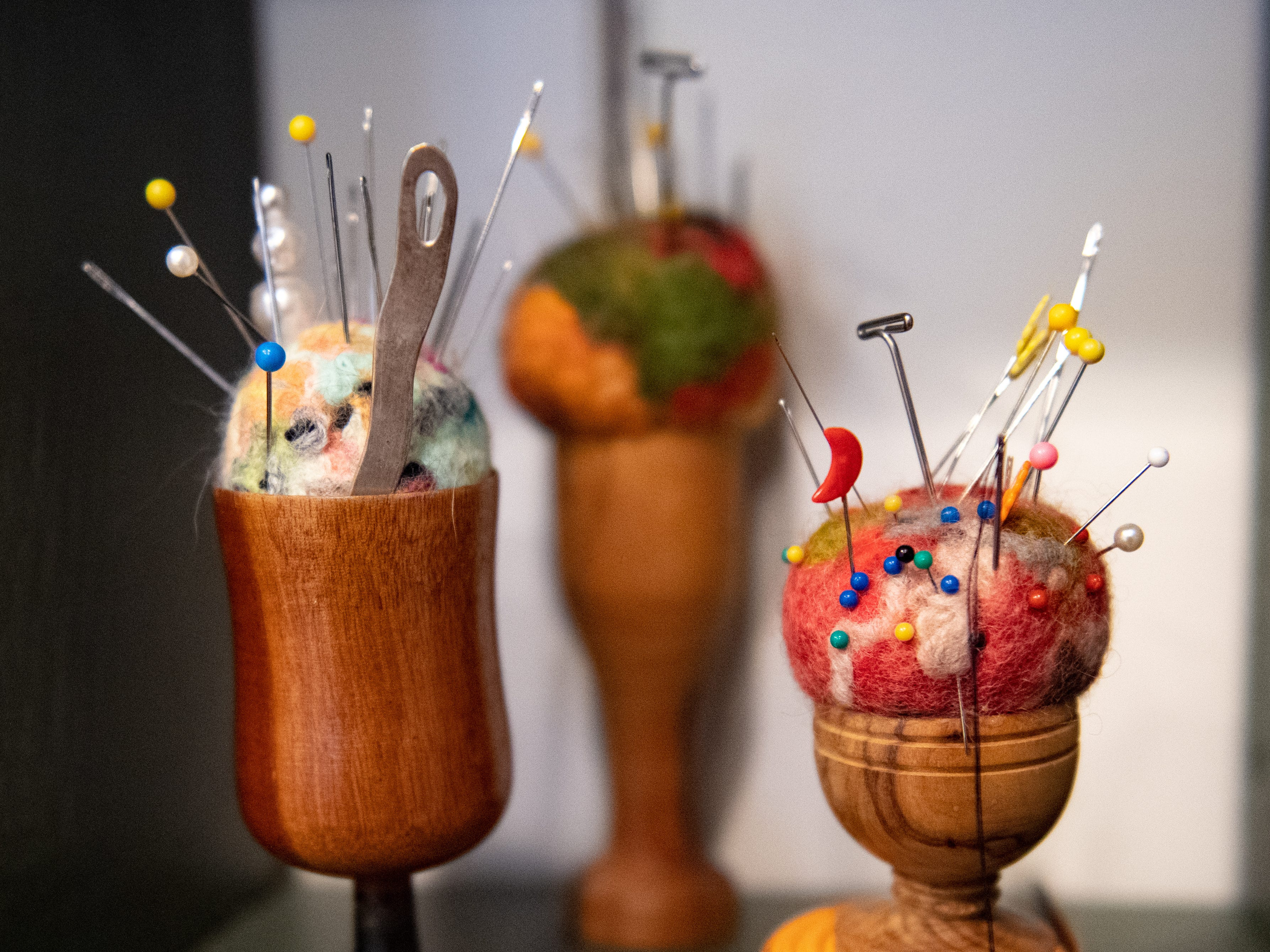 Artistic pin cushions at Venture in downtown York. Venture is part of the Parliament Arts Organization in the Royal Square District, April 11, 2019.