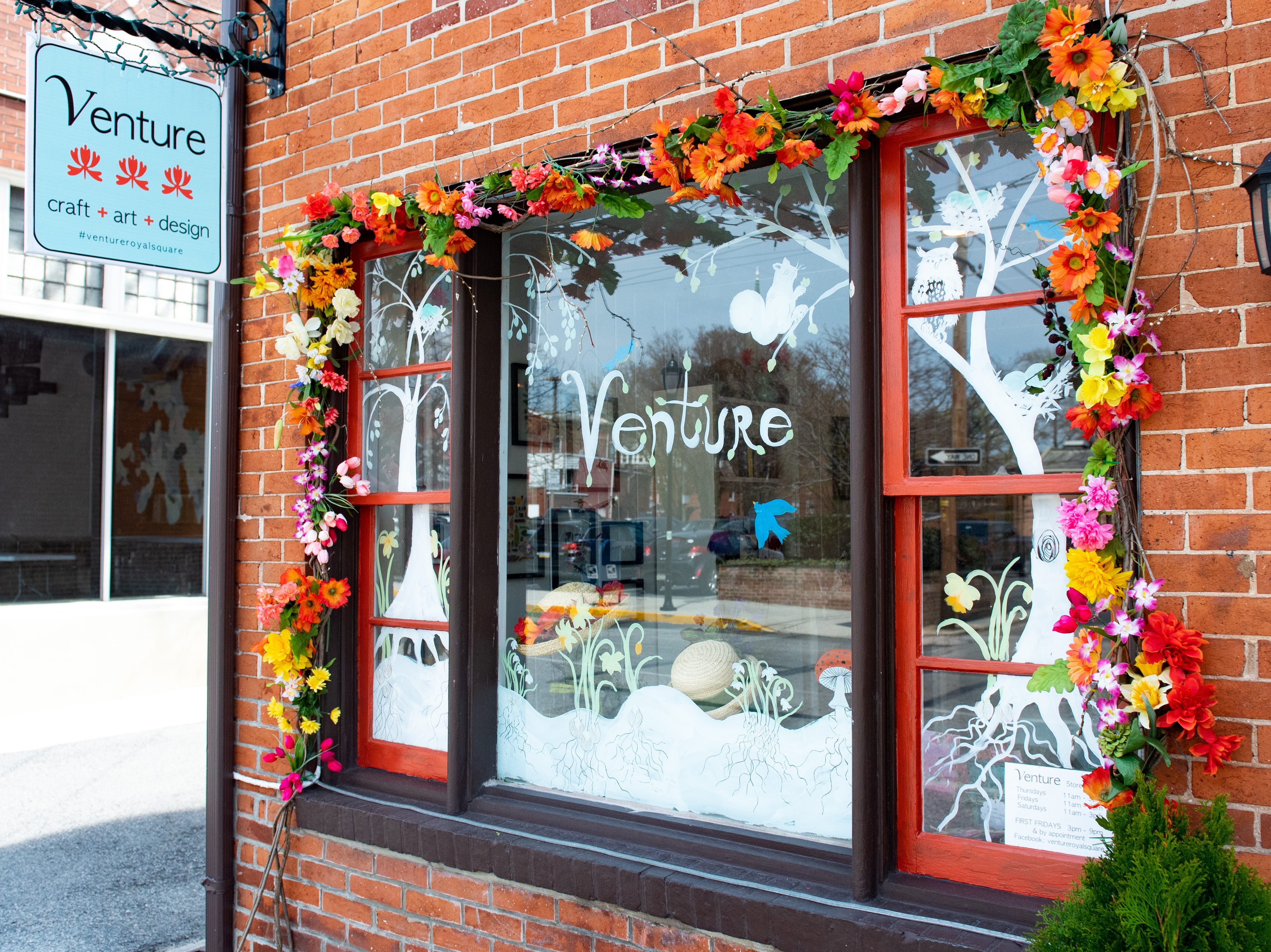 Venture is a new art gallery in downtown York that has a wide variety of unique crafts. Venture opened in Dec. 2018 and joins the Gallery 110 and The Dark Parlour  as the newest additions to the Parliament Arts Organization in the Royal Square District, April 11, 2019.