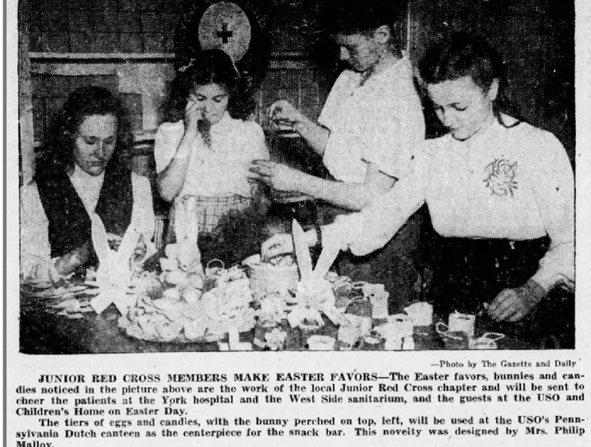 A photo from the Gazette and Daily, March 31, 1945.