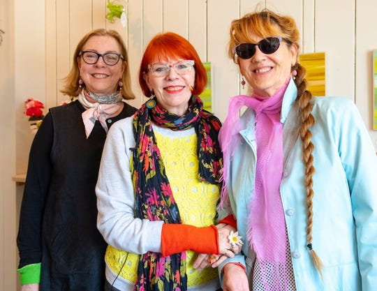 Venture is the brainchild of longtime friends, from left, JoAnne Schiavone, Susan McDaniel and Karen Paust. Many of their crafts line the walls of the building.
