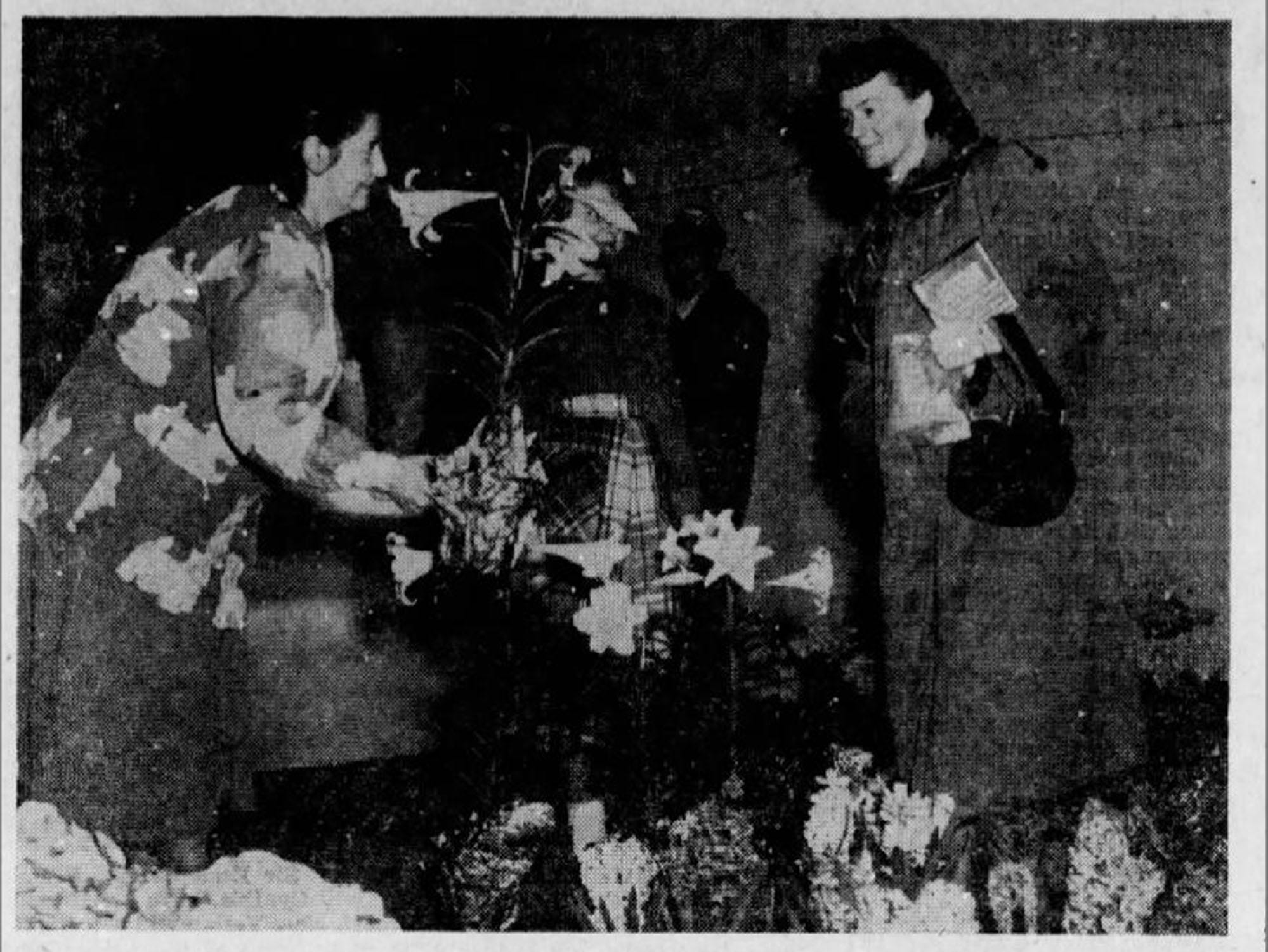 A photo from the Gazette and Daily, April 9, 1950.