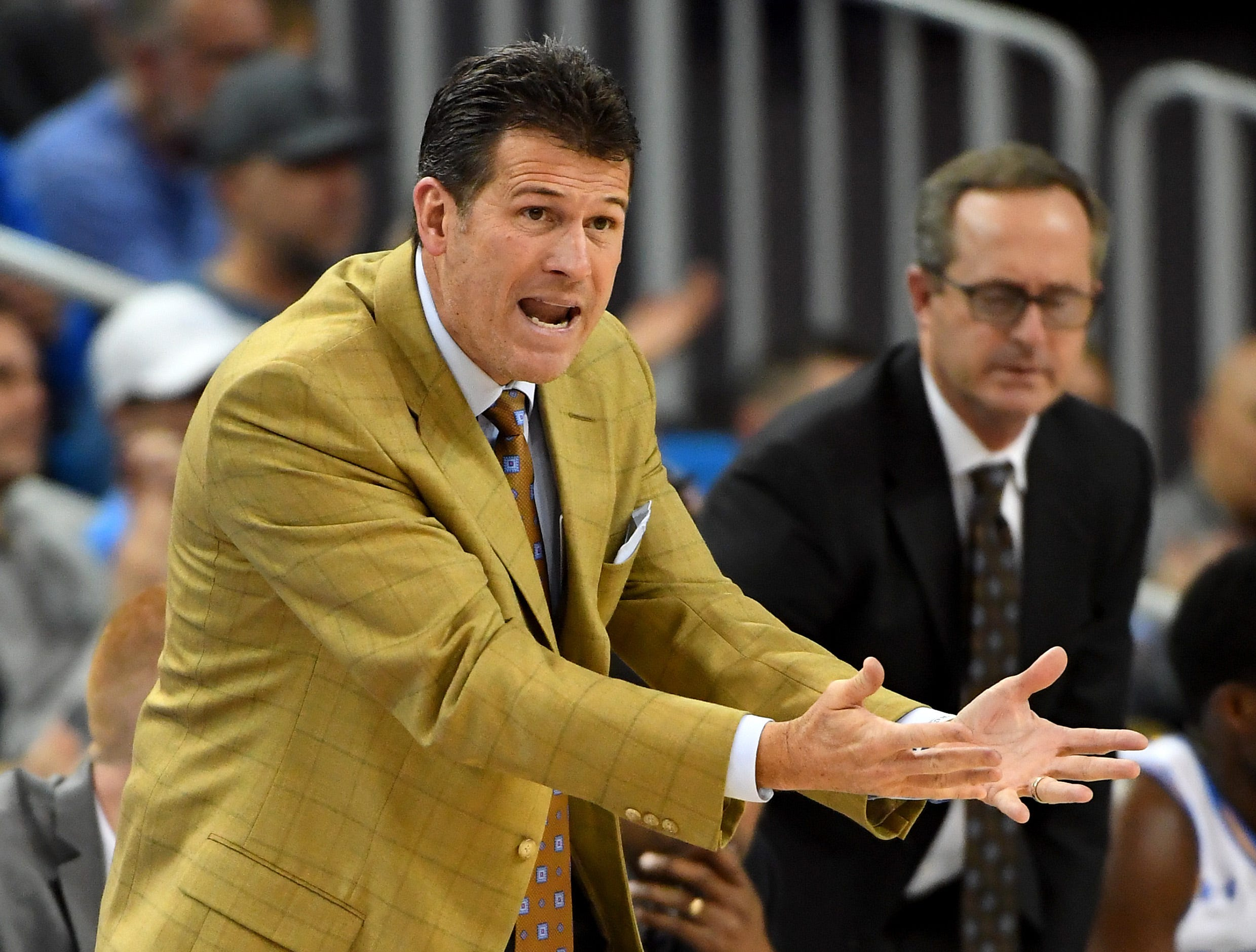 Dec 2, 2018; Los Angeles, CA, USA; UCLA Bruins head coach Steve Alford during the second half of the game against the Loyola Marymount Lions at Pauley Pavilion. Mandatory Credit: Jayne Kamin-Oncea-USA TODAY Sports