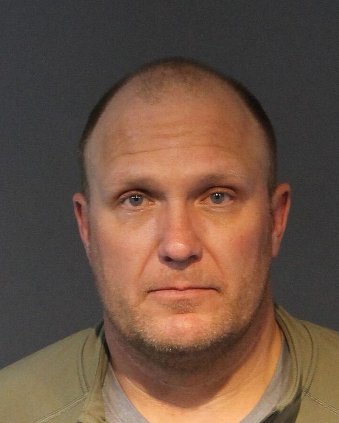 The booking photo of Eric Justin Christiansen, 44. The former Nevada Department of Transportation employee was found guilty of felony DUI in March after he drove a state-owned snowplow over the centerline of the Mt. Rose Highway while high on meth, hitting Alan McMahon nearly head-on.