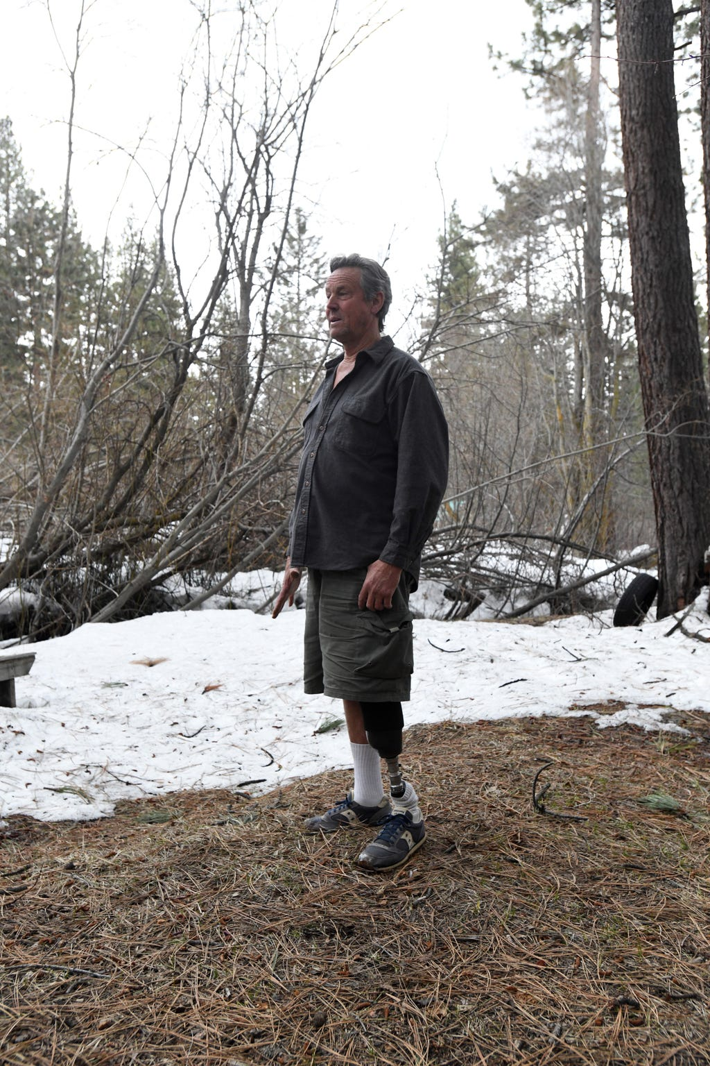 Alan McMahon, 62, lost his leg in 2018 to a Nevada Department of Transportation snowplow driven by a state employee who was high on meth.