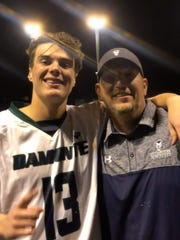 AJ Mercurio, with his father, Chris, will be  just the second Division I college lacrosse player from Northern Nevada.