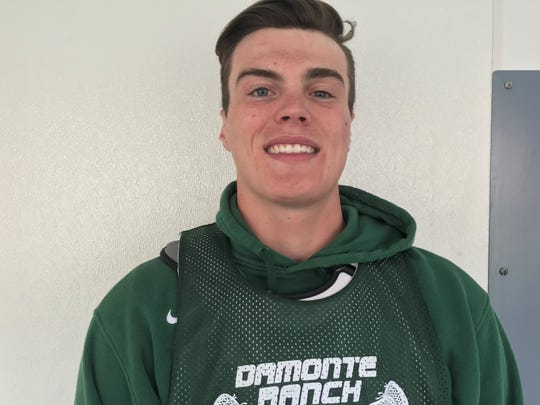 Damonte Ranch senior AJ Mercurio will play lacrosse at Denver in the fall.