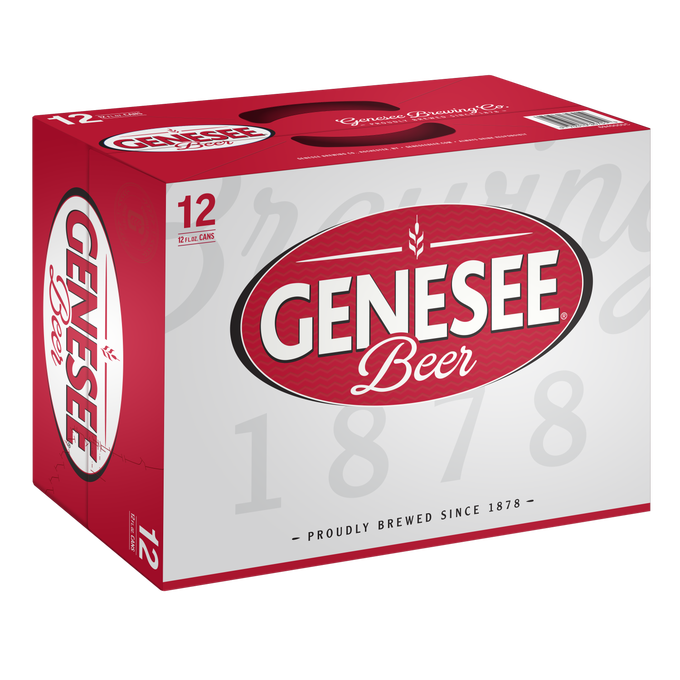 The new look of a 12-pack of Genesee Beer.