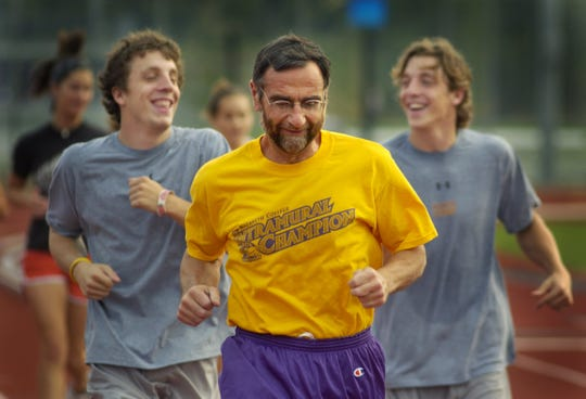 Daan Braveman, president of Nazareth College, runs twice a week with students and staff in 2005.