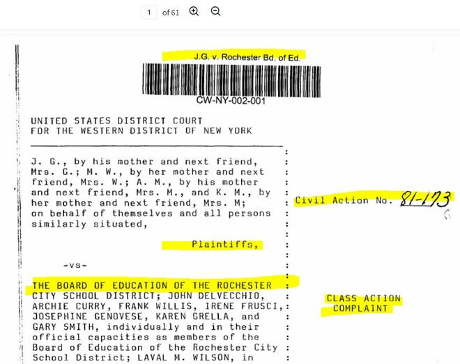 RCSD Lawsuit
