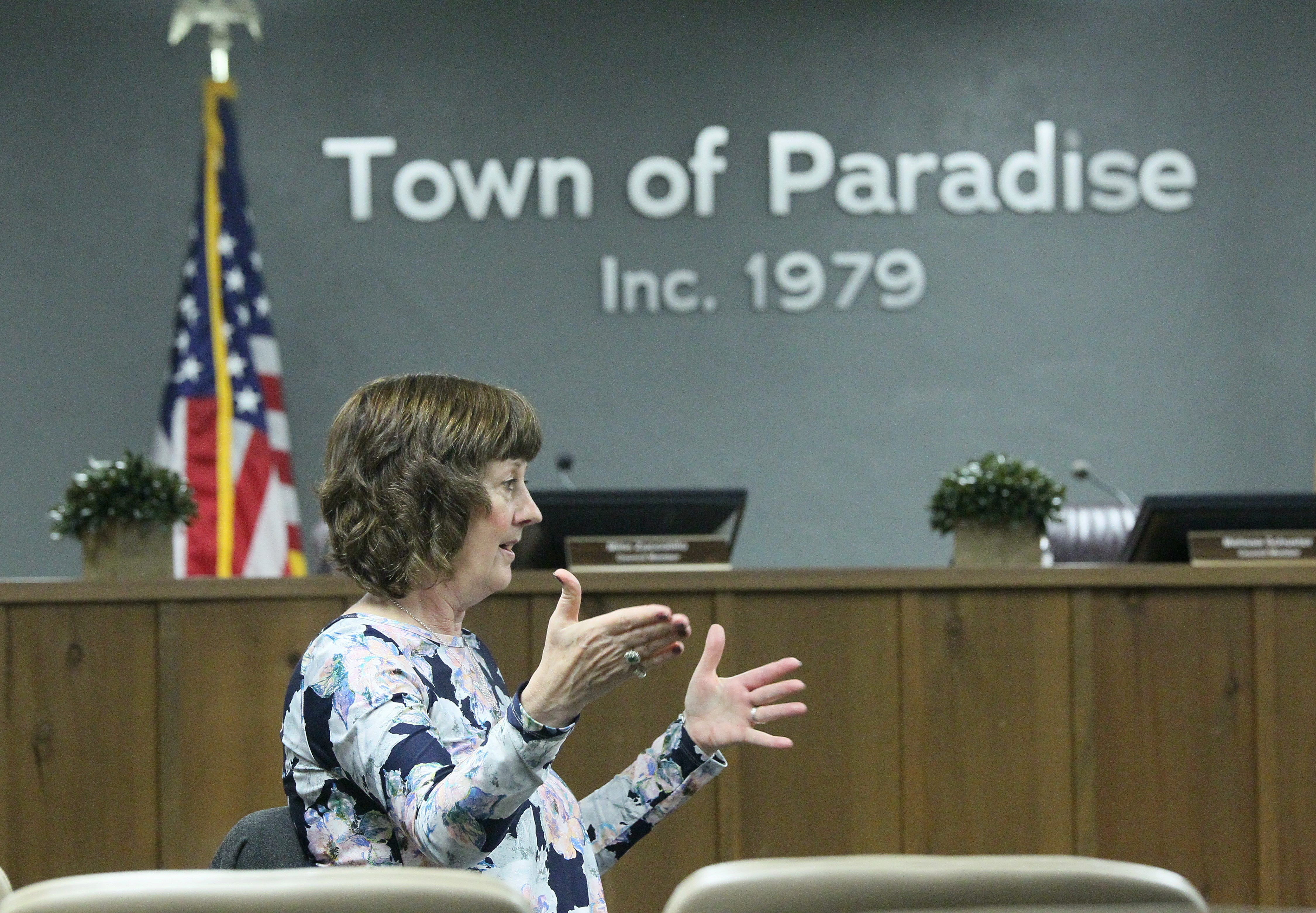 Paradise Mayor Jody Jones said even though there were traffic jams and people died trying to flee the town during the Camp Fire, she still recommends communities develop evacuation plans.