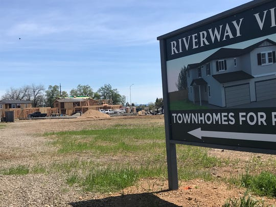 Riverway Villas is going up off Star Drive in south Redding. The 3- and 4-bedroom townhomes will feature two-car garages.