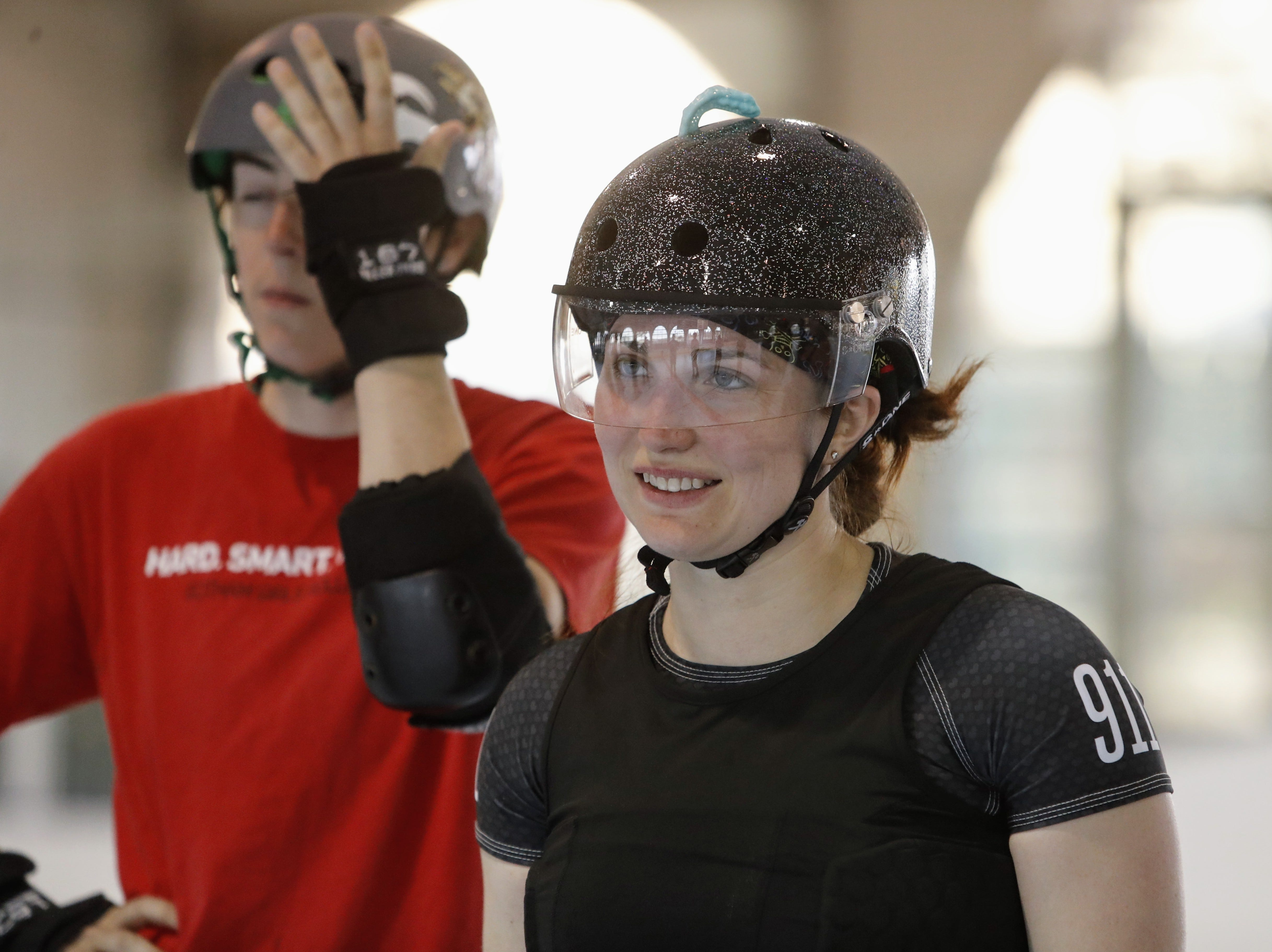 Shasta Roller Derby holds a practice at Big League Dreams on Wednesday, April 10.