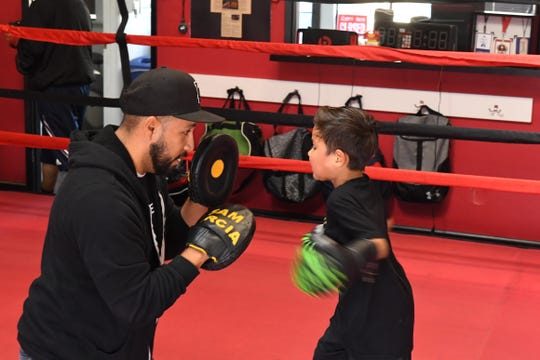 Starting at 3 p.m., kids from around the community come by Team Villa Gym to learn from the trainers that helped Ruben Villa IV reach headliner status.