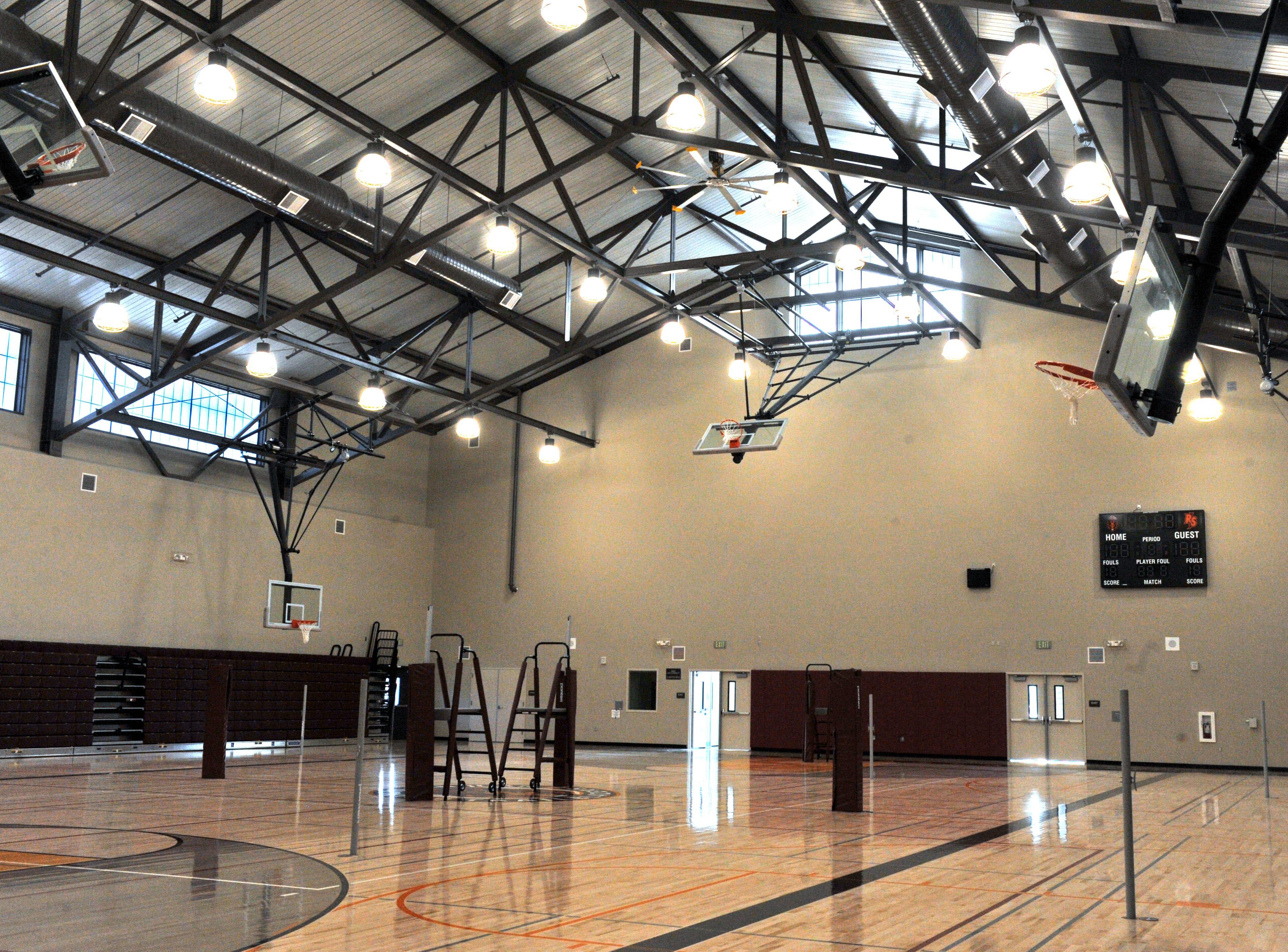 Inside the main gym for Rancho San Juan High School.