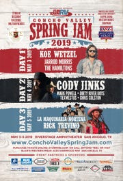 """The """"Concho Valley Spring Jam"""" will play host to 10 musicians from May 3 to May 5, 2019."""