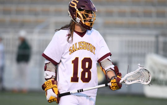 Salisbury University's Midfielder Corey Gwin during the game against Christoper Newport on Wednesday, April 10, 2019.