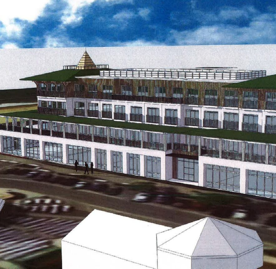 A hotel is being proposed for Rehoboth Avenue — and it's right on the boardwalk