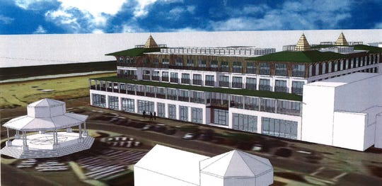 A four-story, nearly 77,000 square foot hotel could spring up on Rehoboth Avenue.