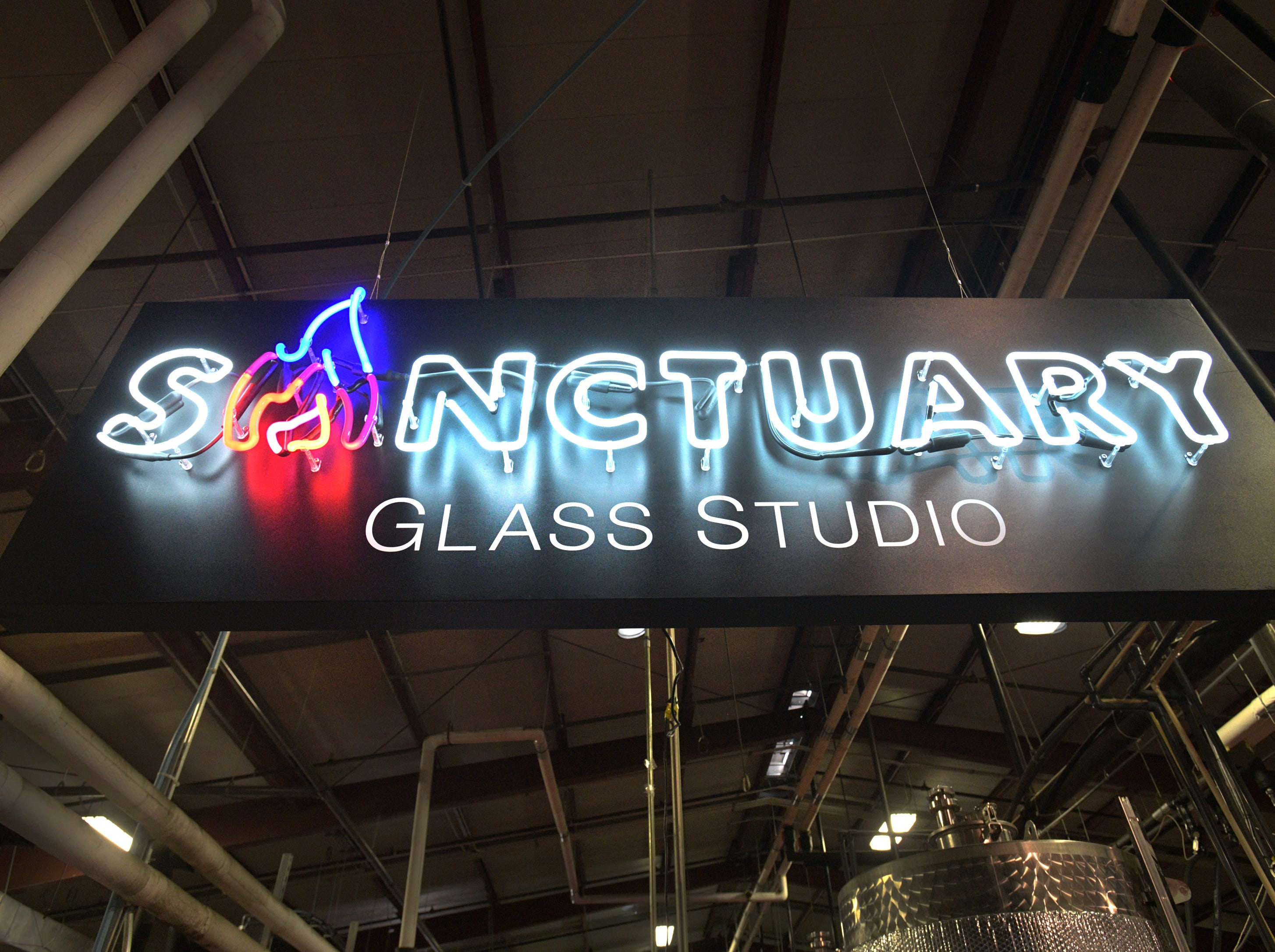 Michelle Pennington and Eric Hess own and run Sanctuary Glass Studio located in Shreveport's Red River Brewing Company.
