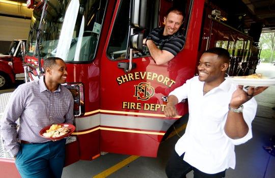 Shreveport Firemen for cooking show.