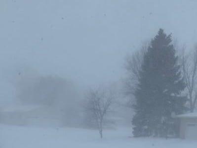 Aberdeen, South Dakota during a blizzard on Thursday, April 11, 2019.