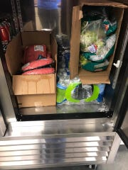 The Sunshine Foods grocery store in Hartford donated bottled water and food to the Hartford and Humboldt Fire Departments Thursday, which are being used as emergency shelters during this week's blizzard.