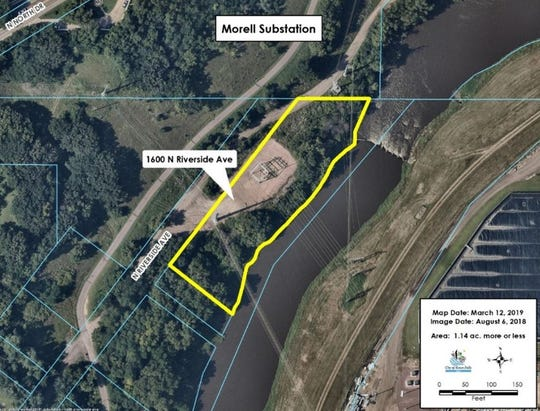 Falls Park will add to its inventory of land about 5 acres thanks to Northern States Power Company no longer needing two of its substations in the area.