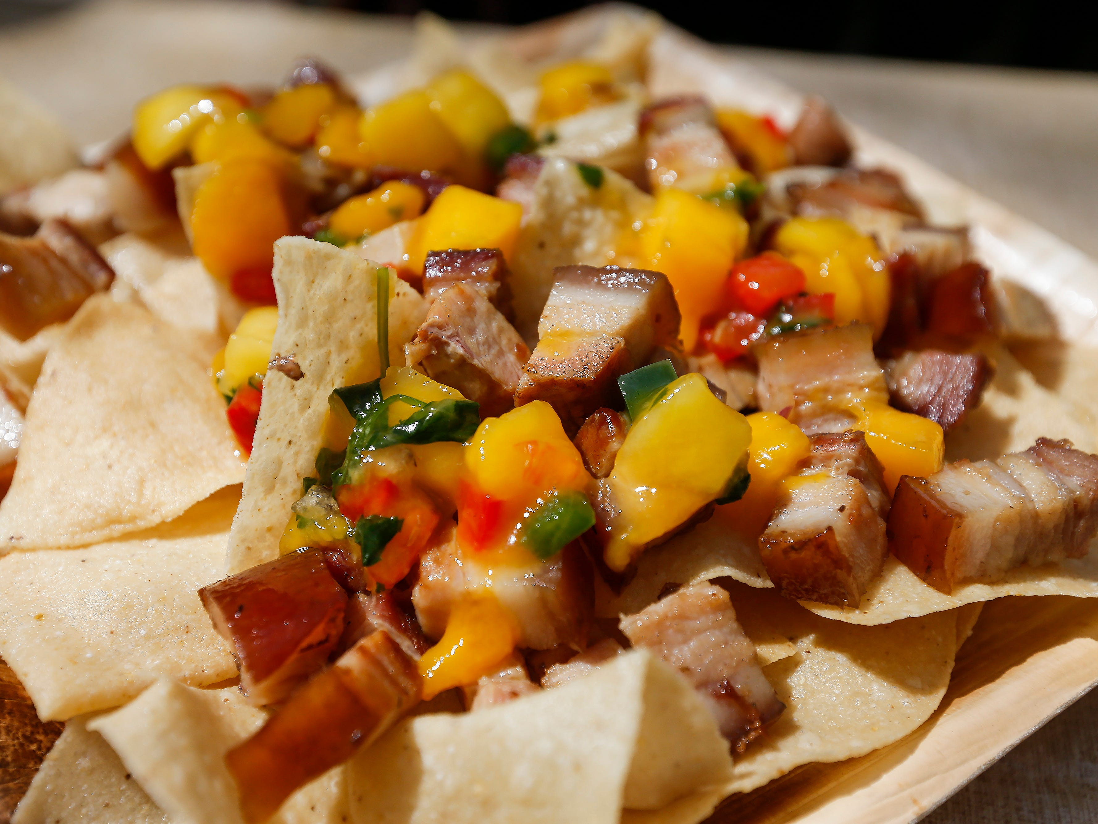 Foods of Wonder like these smoked honey glazed pork belly nachos with mango salsa are part of the Festival of Wonder at Silver Dollar City. The event runs Wednesdays through Sundays, April 10-28.