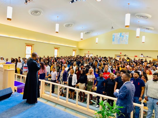 Pastor Anton G. Elwood leads regular Sunday services at the New Mount Zion AME Church.