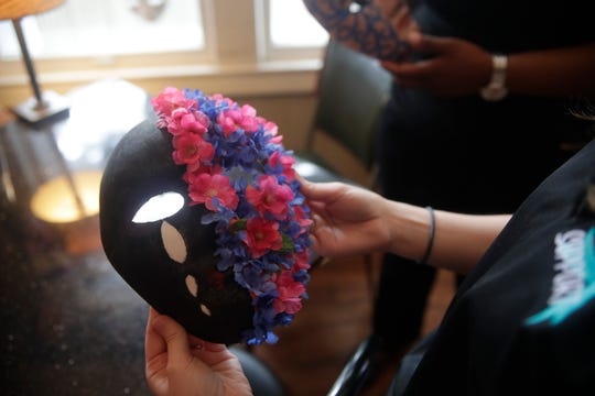 """Last April, the Lake Ella Black Dog Cafe showcased 118 """"empowerment masks"""" created by sexual assault survivors in honor of Sexual Assault Awareness Month. This year, due to the coronavirus pandemic, the Refuge House is taking it's program virtual. Refuge House is still available 24/7 on the hotline at 850-681-2111."""