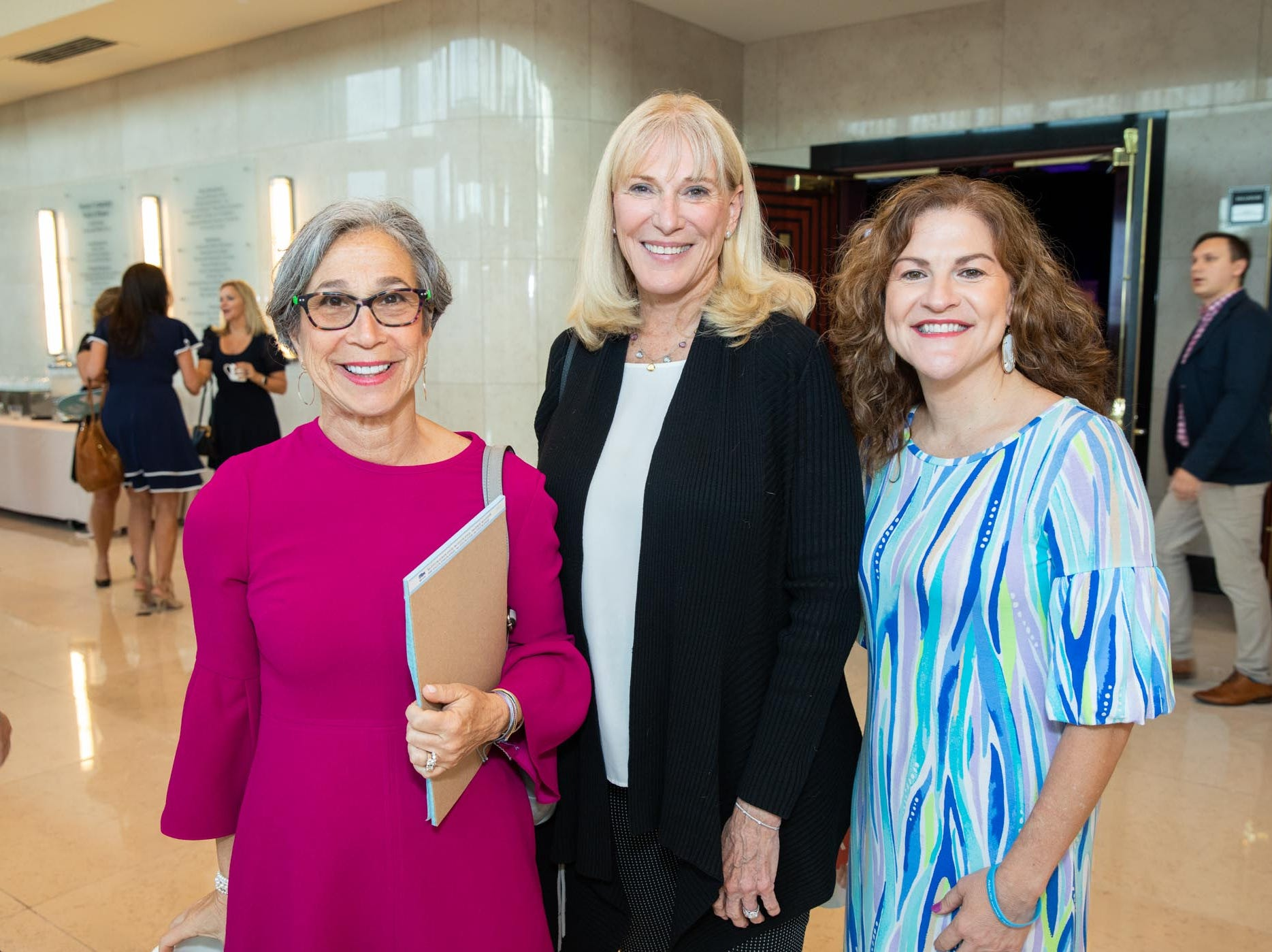 Sheryl Paul, left, Donna Linton and Joanne Zarro attend Catch the Wave of Hope's breakfast to raise money and awareness about human sex trafficking.