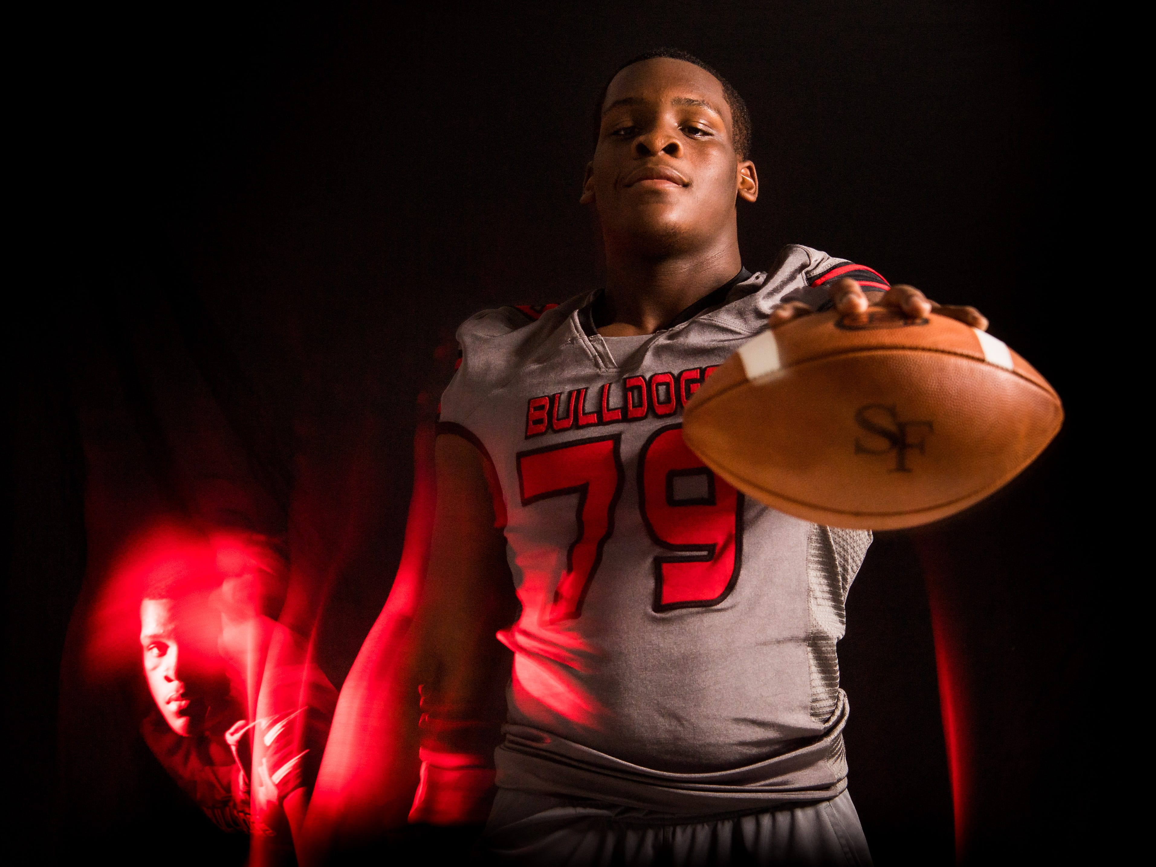 Josh Cohen, offensive tackle with South Fork High School football, is photographed Wednesday, April 10, 2019, at TCPalm in Stuart.