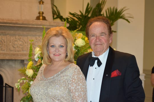 Soprano Deborah Voigt and Roman Ortega-Cowan at the Vero Beach Opera's Gala Dinner at Grand Harbor Golf Club.