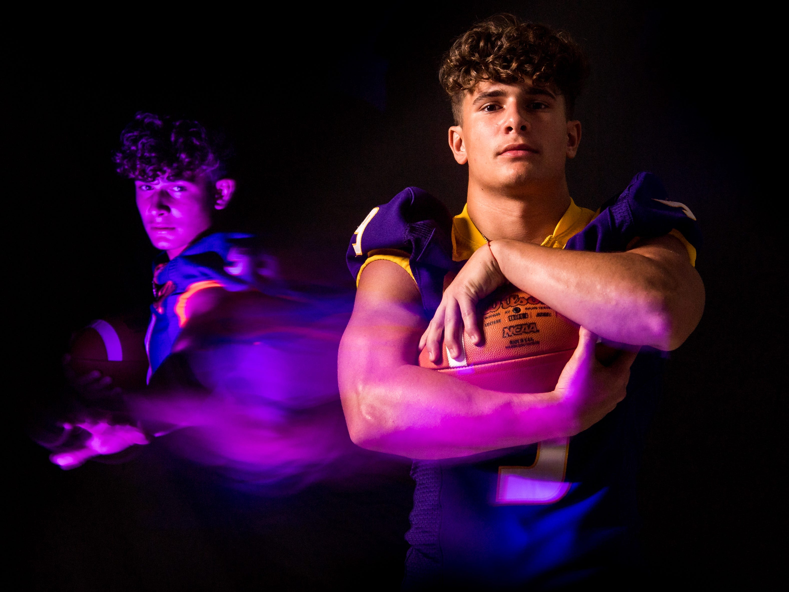 Jaden Meizinger, running back with Fort Pierce Central High School football, is photographed Wednesday, April 10, 2019, at TCPalm in Stuart.