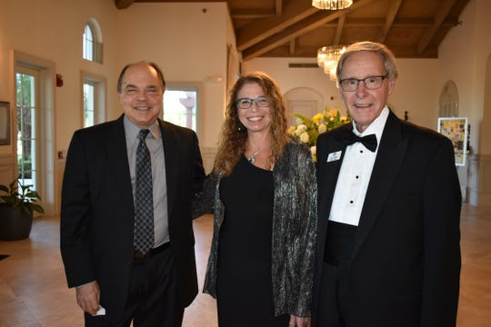 Dr. Larry Greenspoon, left, Kathy Nystrom and Louis Lawson at the Vero Beach Opera's Gala Dinner at Grand Harbor Golf Club.