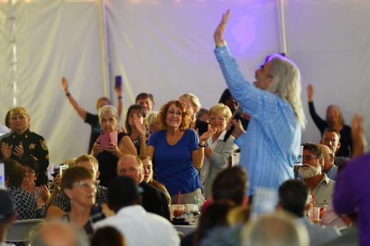 Hundreds of the Christian faithful gathered on Thursday, April 11, 2019 for the 15th annual Vero Beach Prayer Breakfast at Riverside Park in Vero Beach. Providing inspirational music was recording artist and former lead singer for the Gaither Vocal Band, Guy Penrod, and the keynote speaker was Jonathan Cahn, president of Hope of the World Ministries and Messianic rabbi at the Jerusalem Center/Beth Israel in Wayne, New Jersey. Cahn is also the author of the best-selling  book 'The Harbinger'.