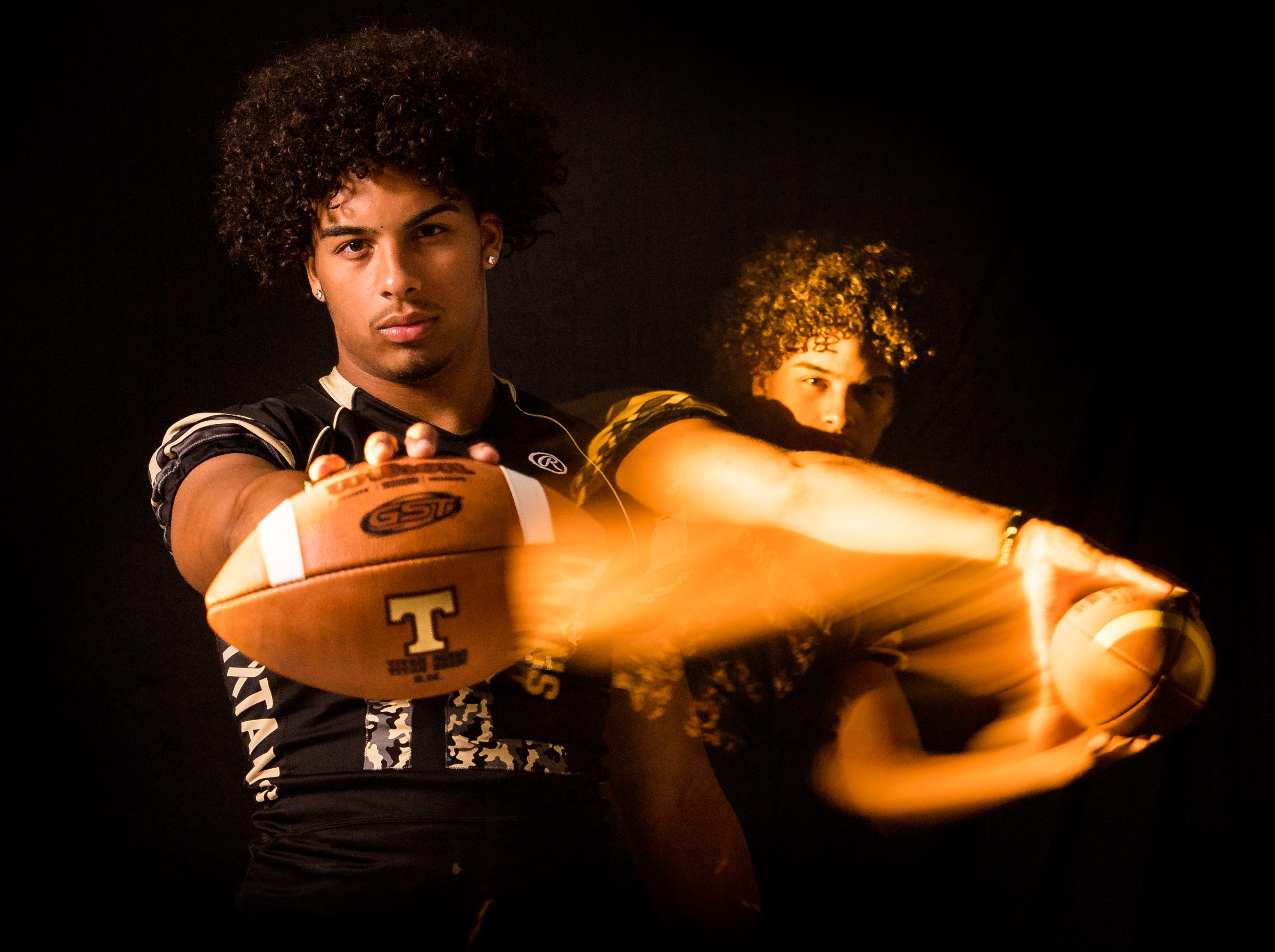 Xavier Correa, defensive end/linebacker with Treasure Coast High School football, is photographed Wednesday, April 10, 2019, at TCPalm in Stuart.