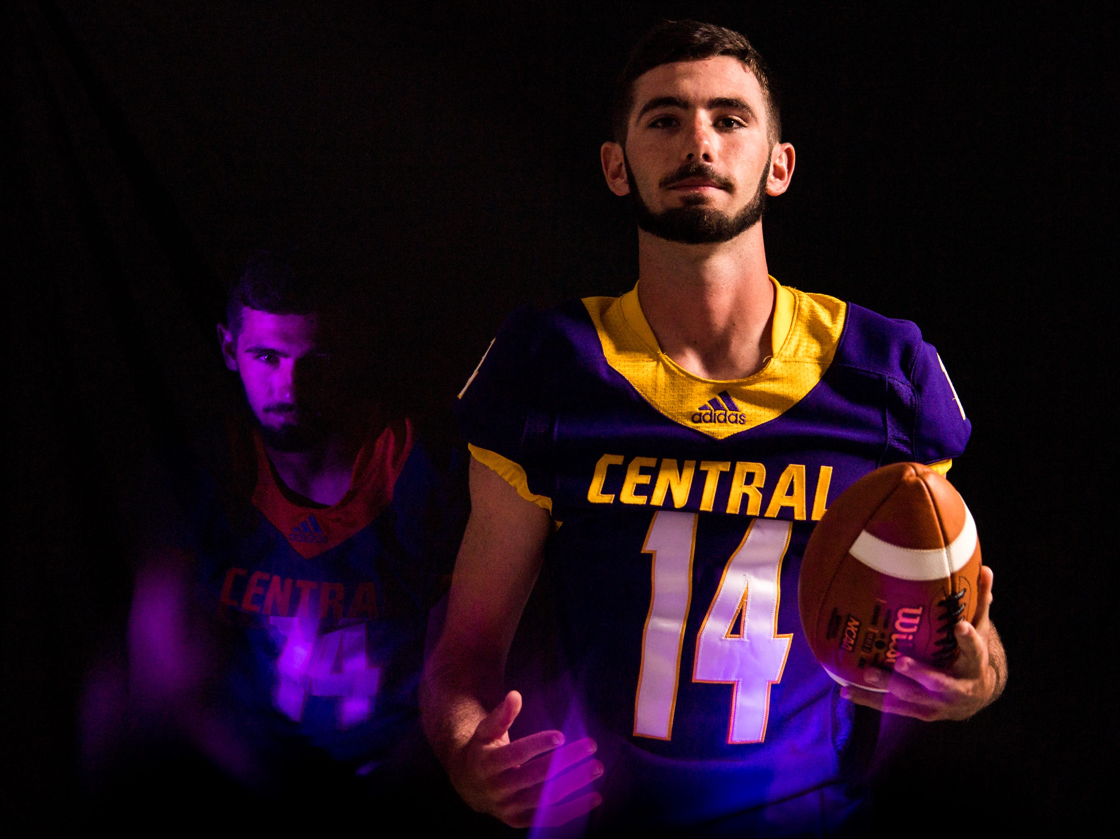 Robbie Sullivan, wide receiver with Fort Pierce Central High School football, is photographed Wednesday, April 10, 2019, at TCPalm in Stuart.