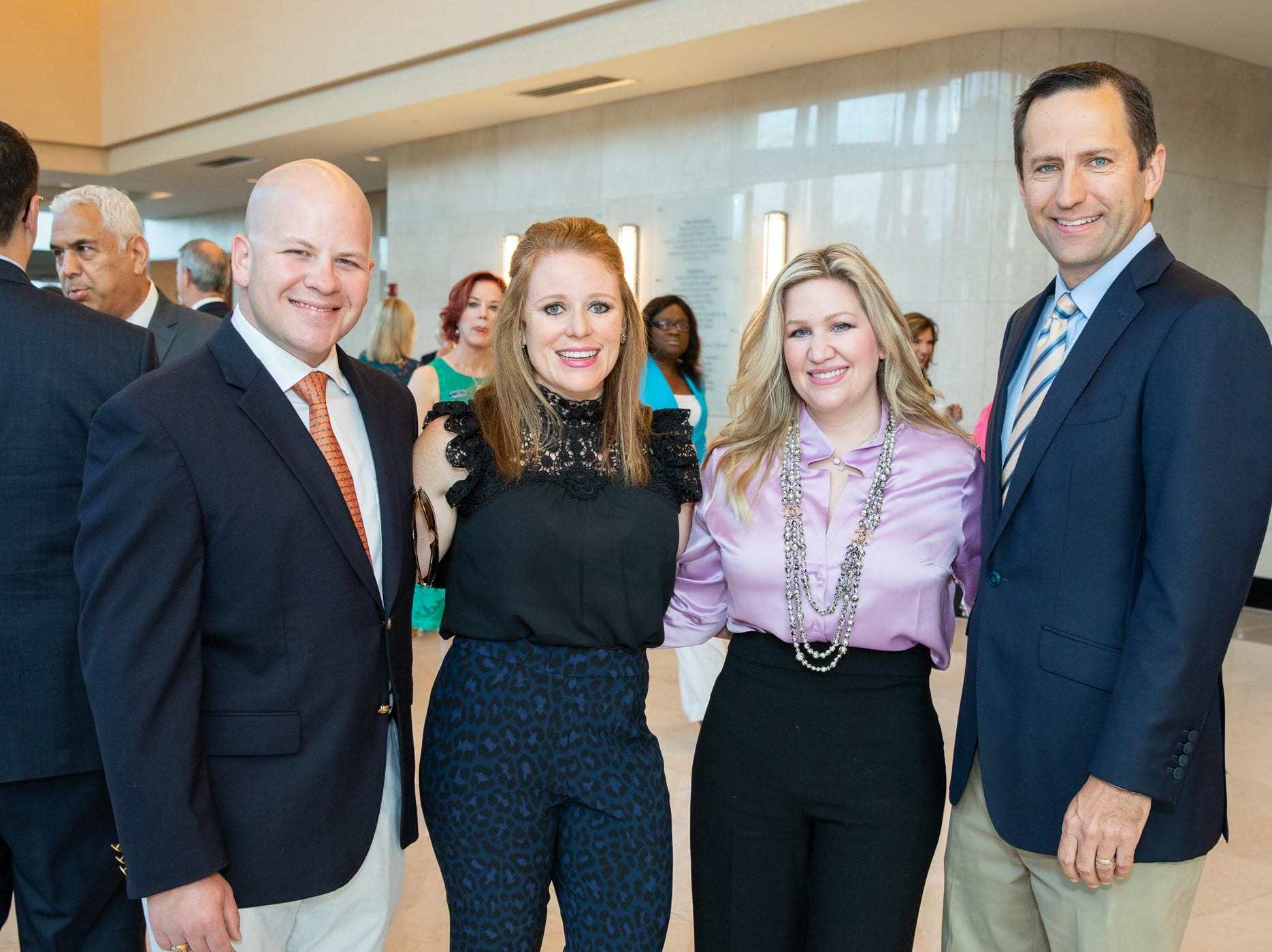 Steven and Jessica McGillicuddy, left, Emily Pantelides and Peter Robbins attend Catch the Wave of Hope's breakfast to raise money and awareness about human sex trafficking.