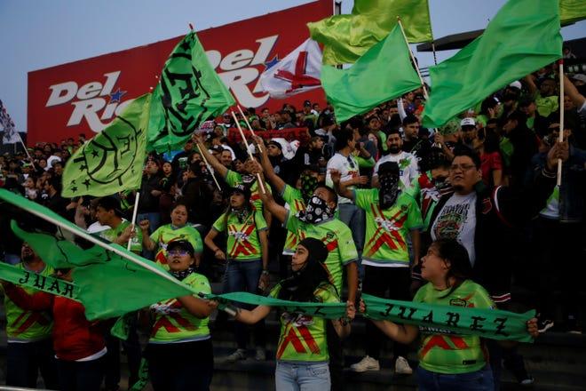 Bravos fans in Juarez as FC Juarez takes on Club America for the Copa MX