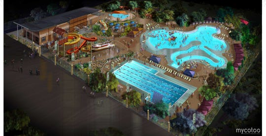 A rendering of the water park that will be built where Cohen stadium is.