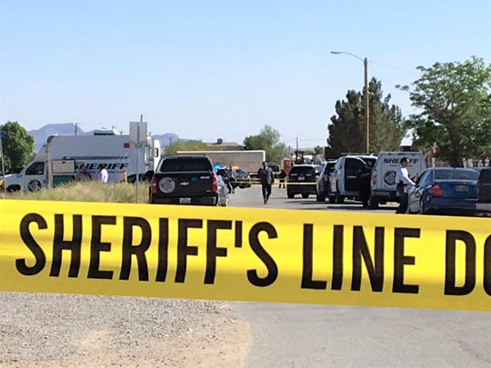 A man was fatally shot by El Paso County sheriff's deputies in the 6700 block of Third Street in Canutillo on April  11, 2019.