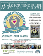 Tender Life Maternity Home is holding a fundraising walk on Saturday.