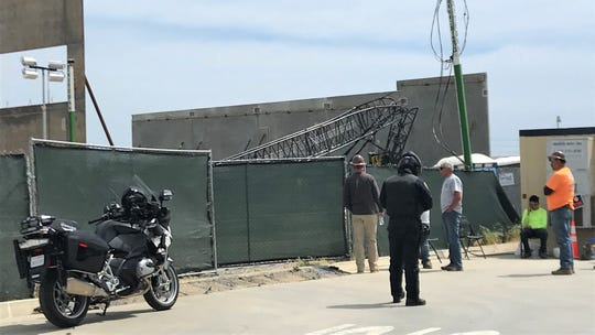 This was the scene Thursday afternoon at the site of a construction accident in the 3000 block of Camino Del Sol in Oxnard. It appeared that a crane collapsed.