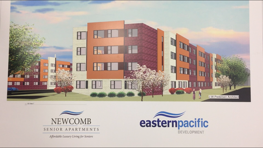 Architectural rendering of Newcomb Senior Apartments, which received Vineland planning approval on Wednesday, April 20, 2019.