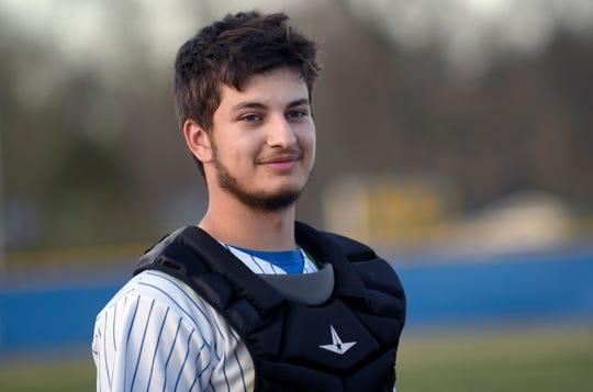 Buena catcher Jake Guglielmi smiles after Wednesday's 6-5 win against Cedar Creek.