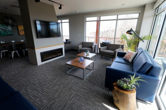 The living room and dining room in the 1,820 square foot Three-Bedroom Grand Corner Suite at The Kartrite Resort & Indoor Waterpark in Monticello, April 10, 2019.